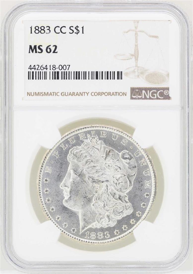 1883-CC $1 Morgan Silver Dollar Coin NGC MS62