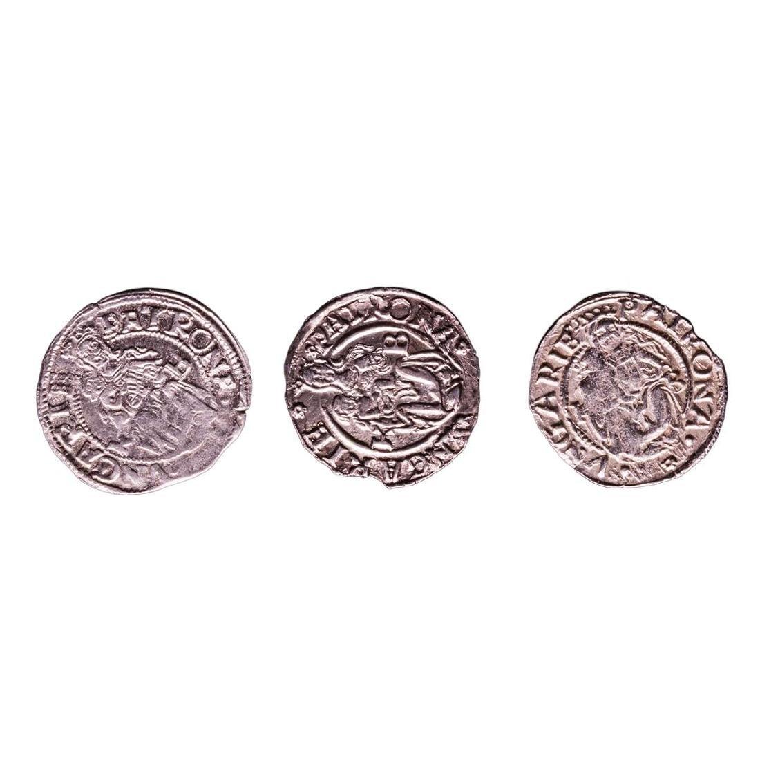 Lot of (3) 1540-1590 KB Hungary Ferdinand I - Madonna &
