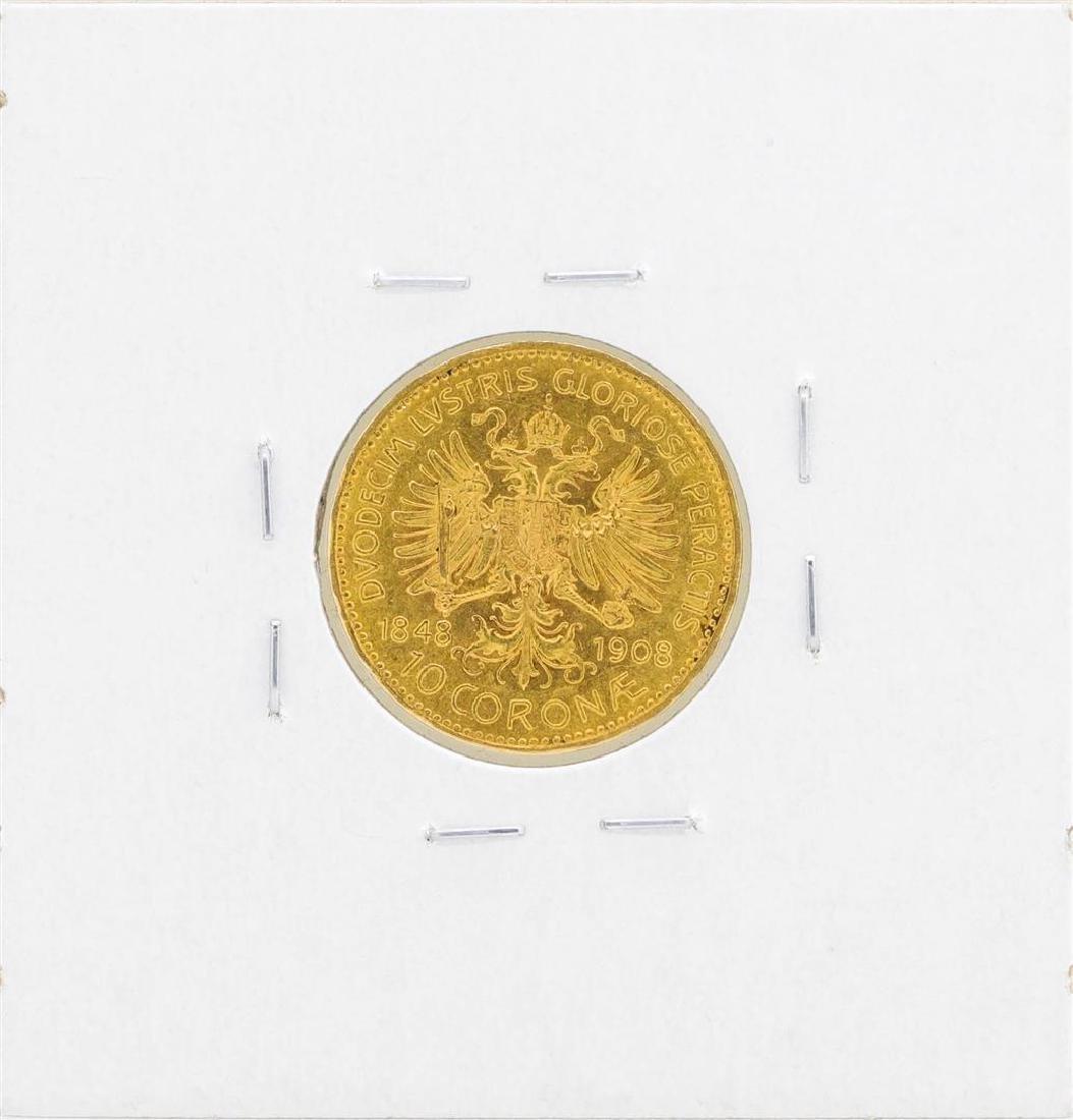 1908 Austria 10 Corona Gold Coin - 2