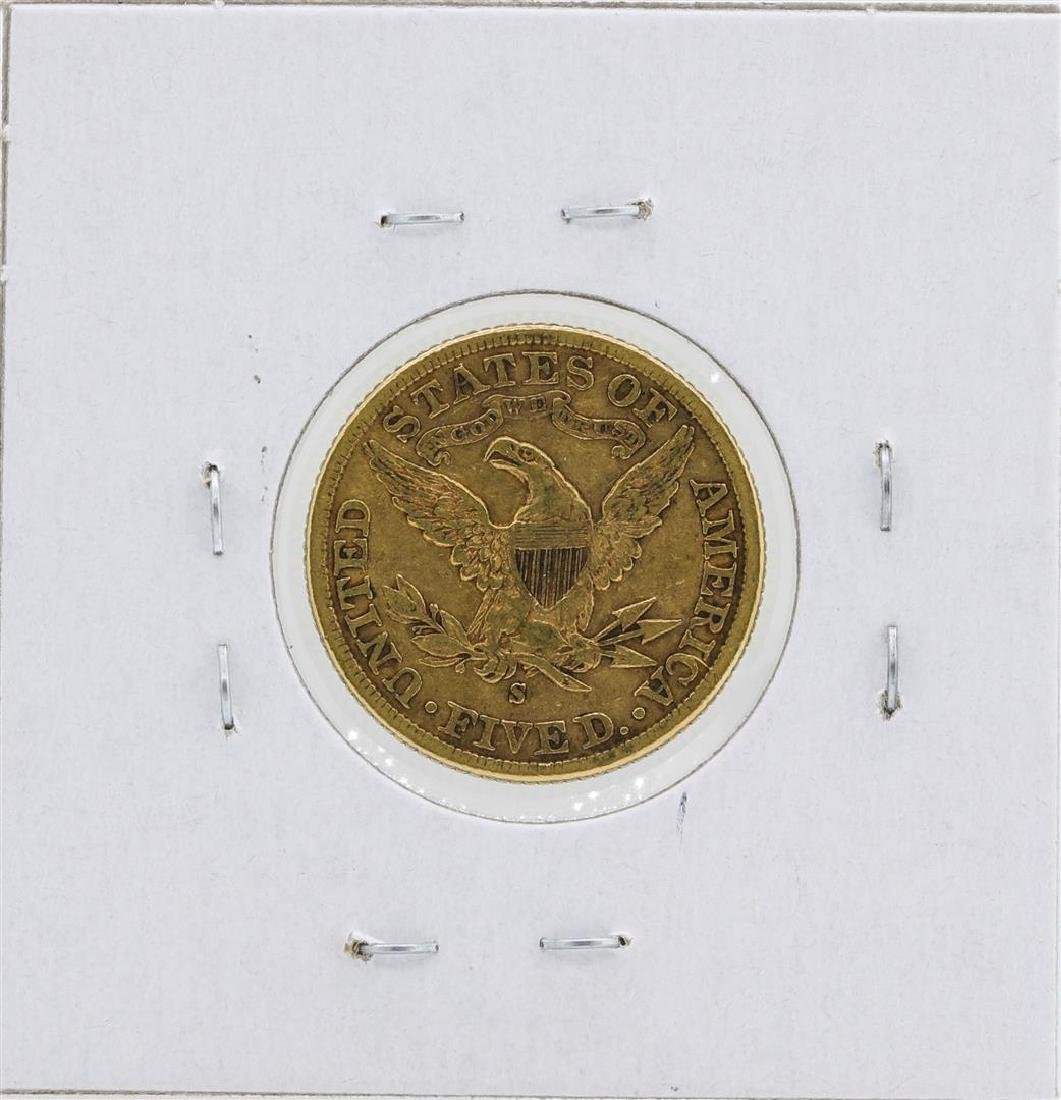 1899-S $5 Liberty Head Half Eagle Gold Coin - 2