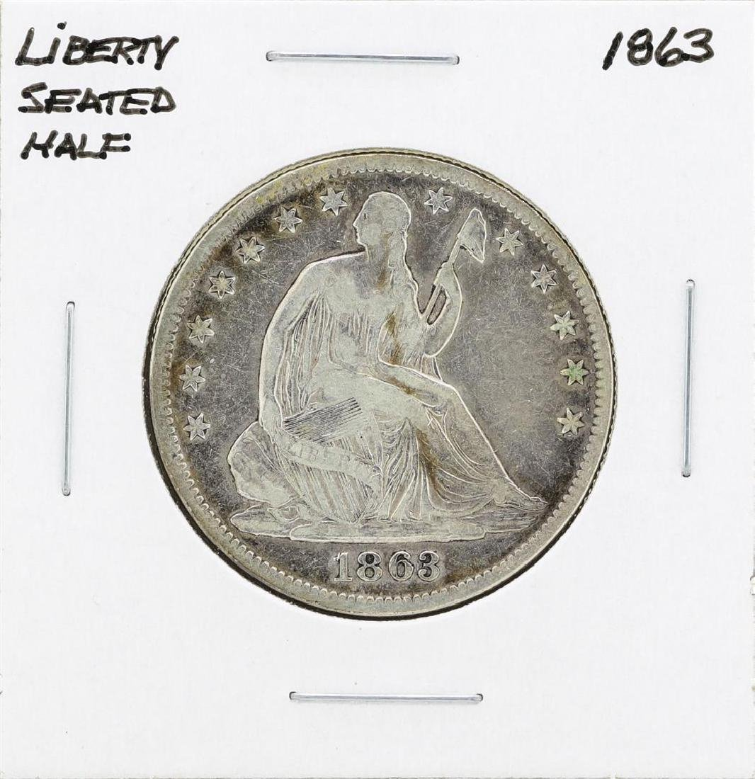 1863 Seated Liberty Half Dollar Coin