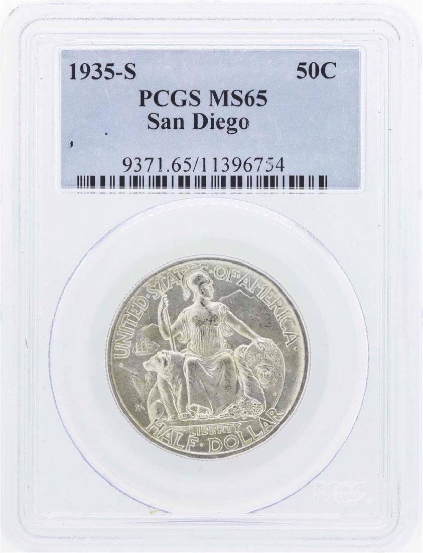 1935-S San Diego Commemorative Half Dollar Coin PCGS