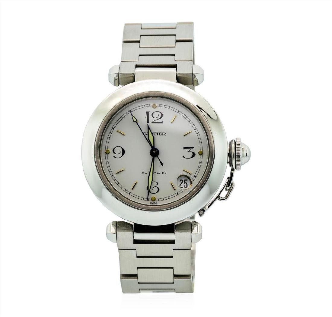 Cartier Mens Stainless Steel Pasha Watch