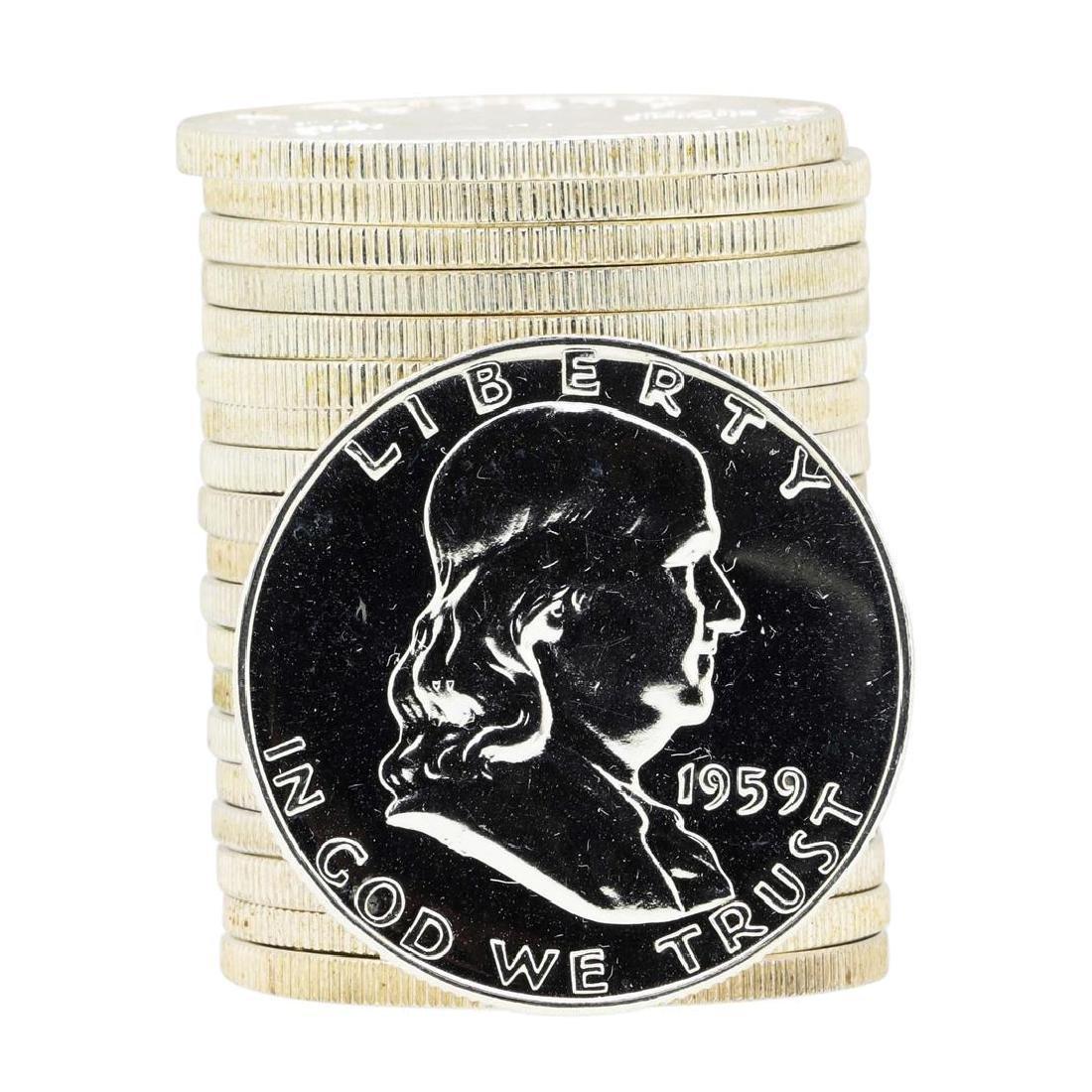 Roll of (20) 1961 Proof Franklin Half Dollar Silver
