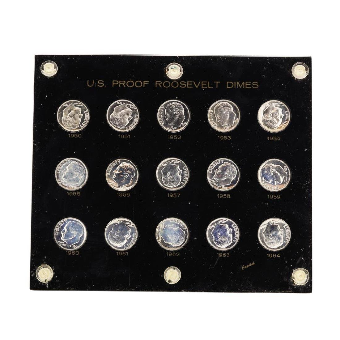 Roll of (50) 1950-1964 Proof Roosevelt Dimes