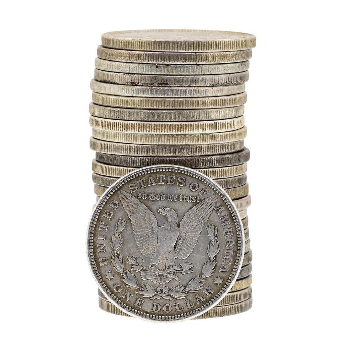 Roll of (25) 1921 $1 Morgan Silver Dollar Coins - - 2