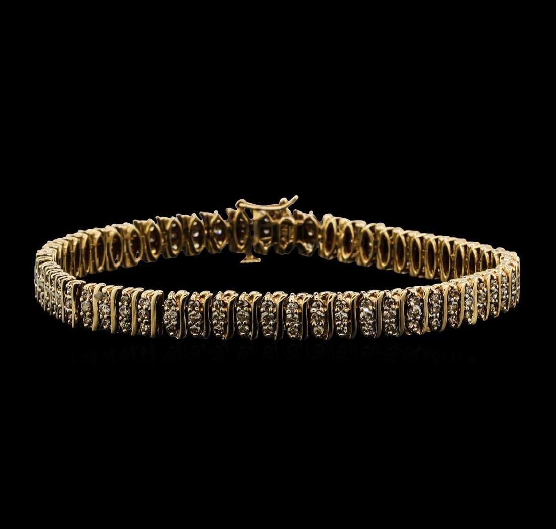 14KT Yellow Gold 2.00 ctw Diamond S-Link Style Bracelet