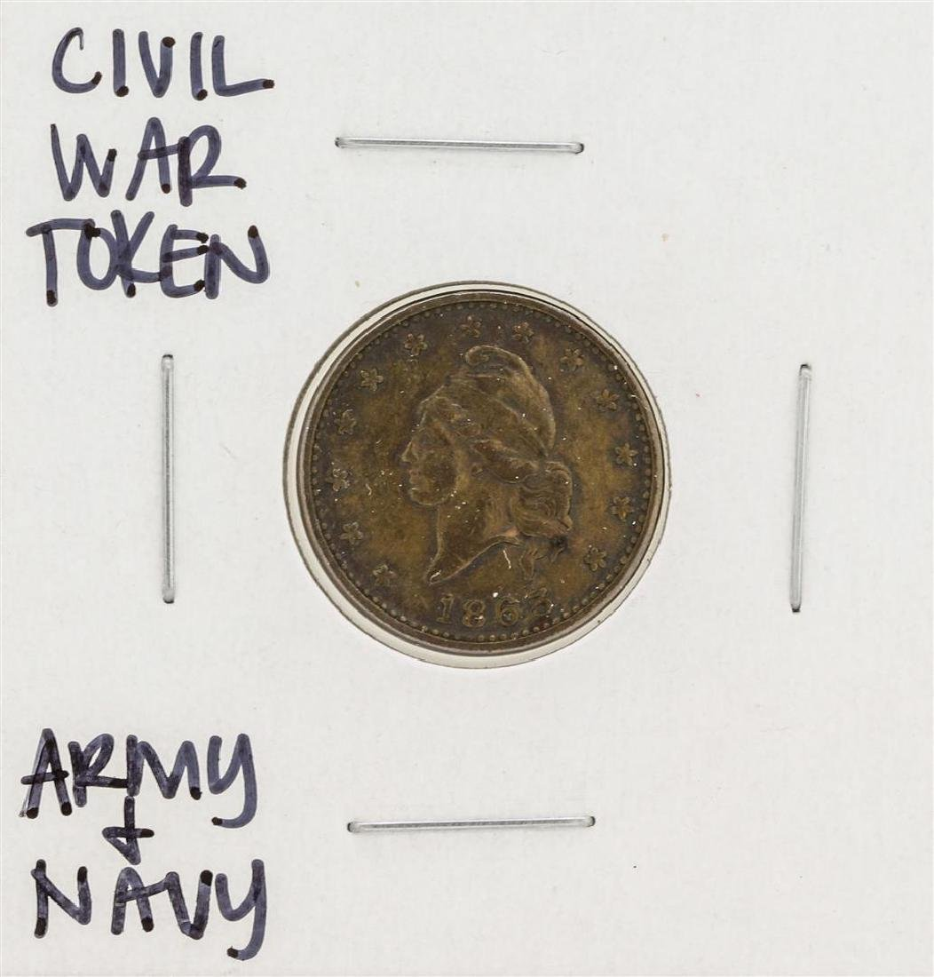 1863 Civil War Token Army & Navy