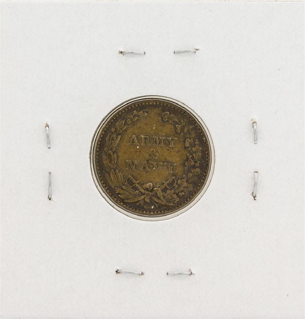 1863 Civil War Token Army & Navy - 2