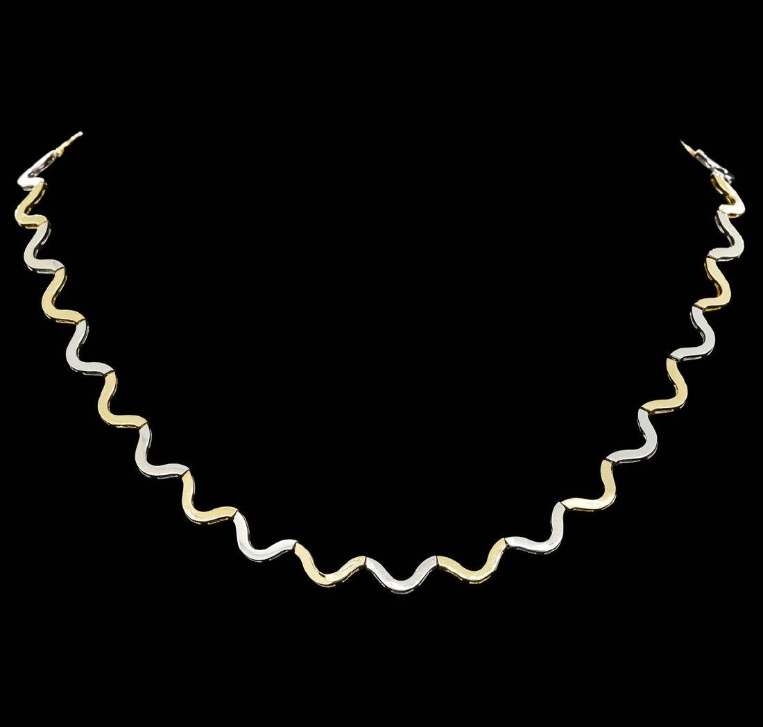 14KT Two Tone Gold Necklace