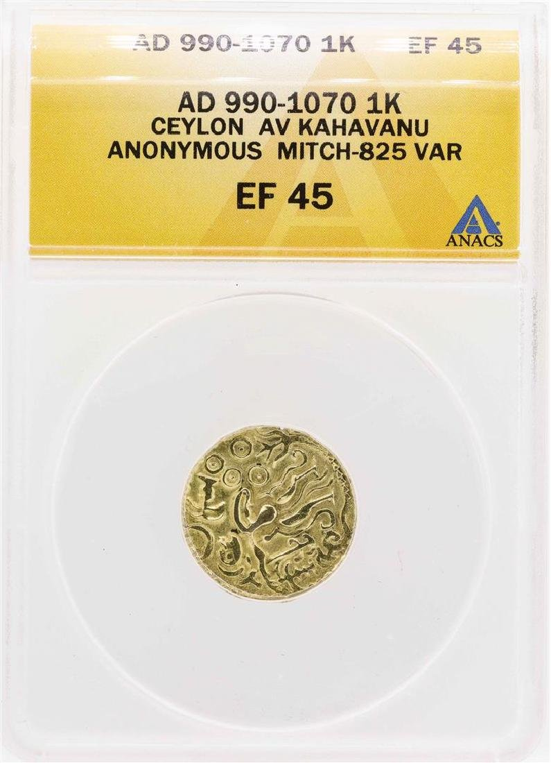 AD 990-1070 Ceylon AV Kahavanu Anonymous Mitch-825 1