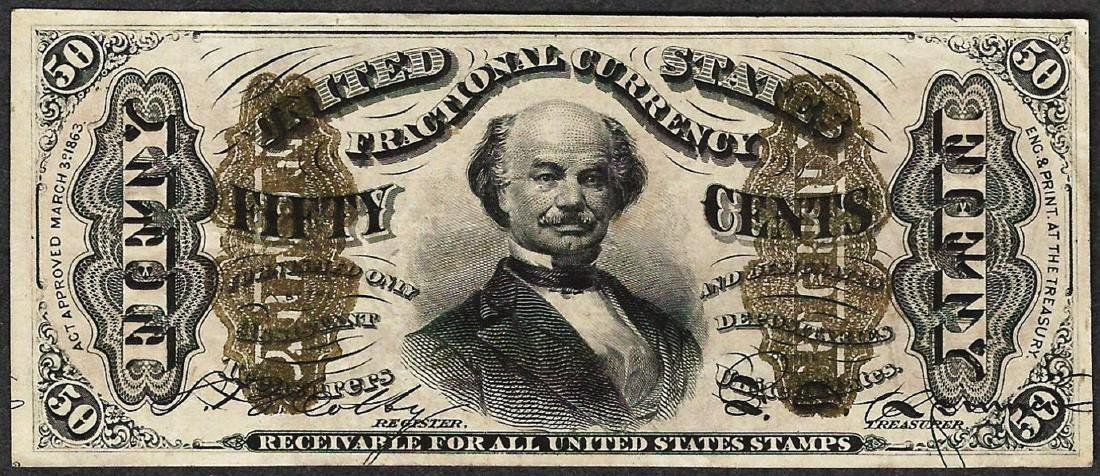 March 3, 1863 Fifty Cent 3rd Issue Fractional Note with