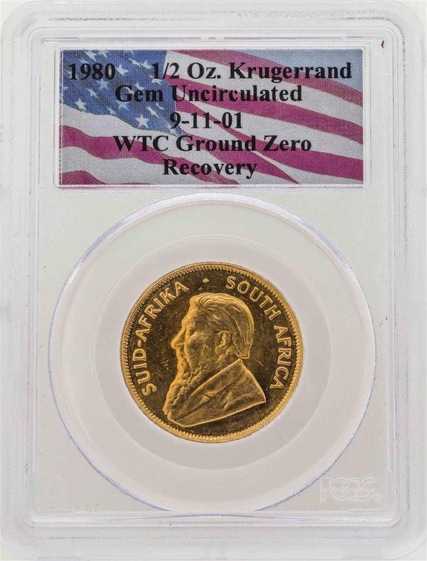 WTC Ground Zero Recovery 1980 1/2 oz. Krugerrand Gold