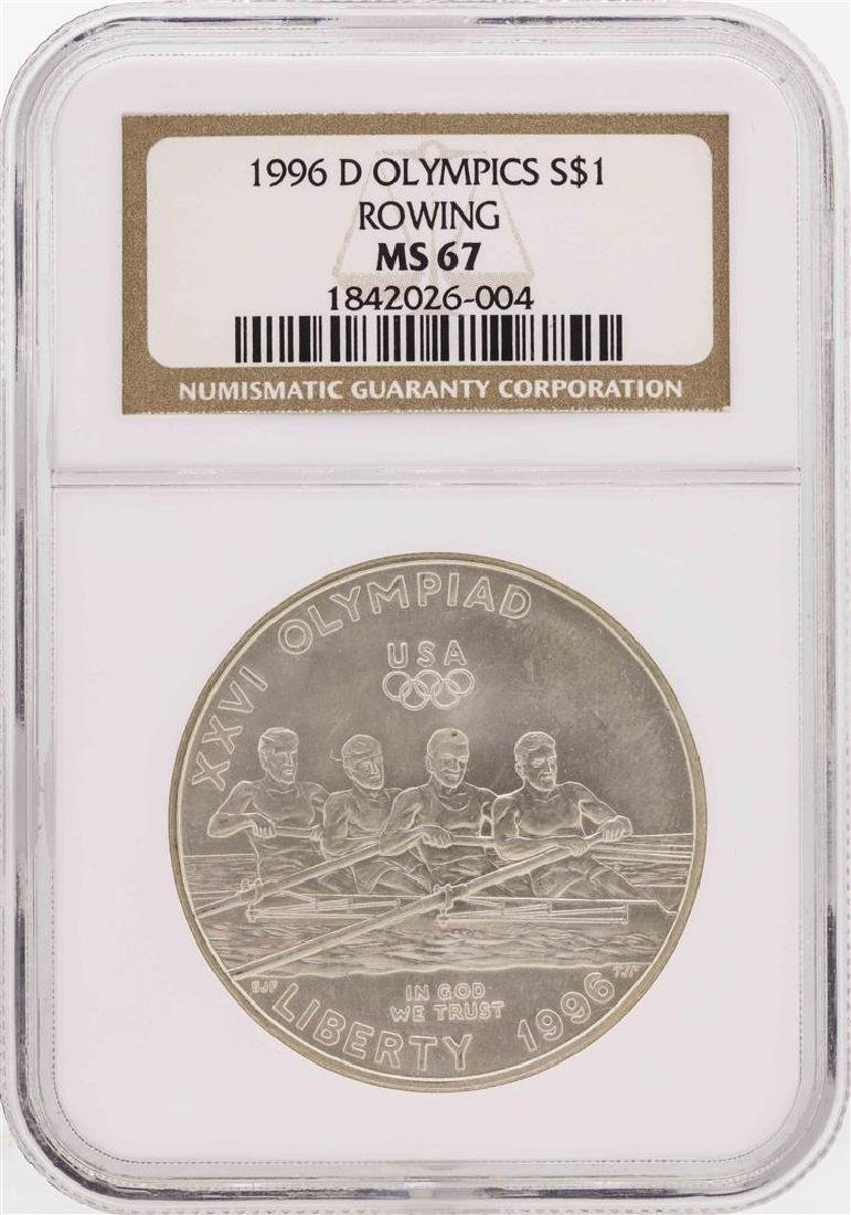 1996-D $1 Olympics Rowing Commemorative Silver Dollar