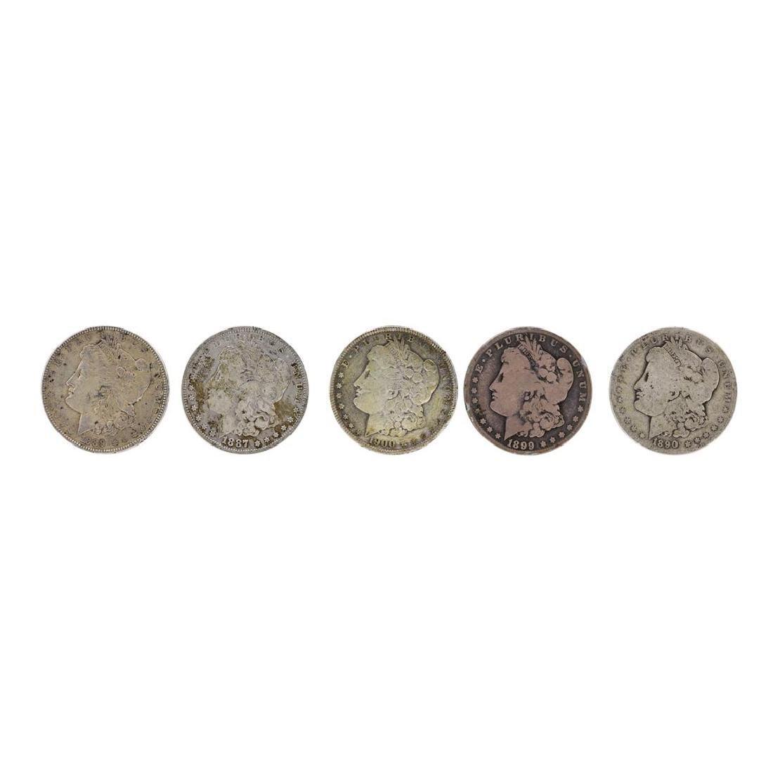 Lot of (5) Pre 1921 $1 Morgan Silver Dollar Coins