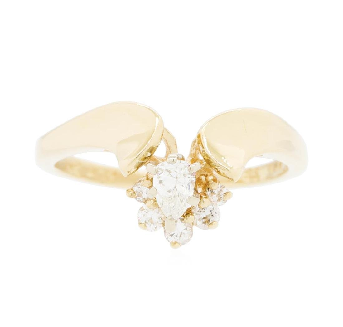 14KT Yellow Gold Lady's 0.25 ctw Diamond Ring