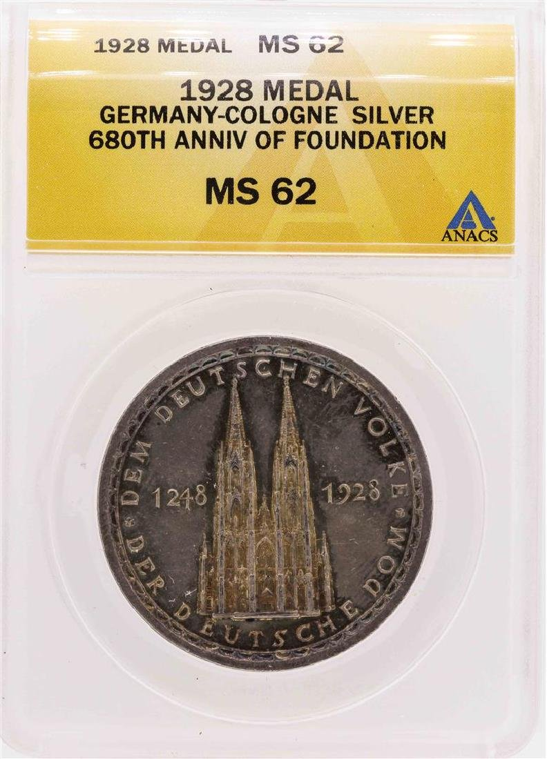 1928 Germany-Cologne Silver 680th Anniversary of