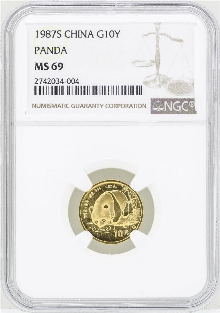 1987S China 10 Yuan Gold Panda Coin NGC MS69
