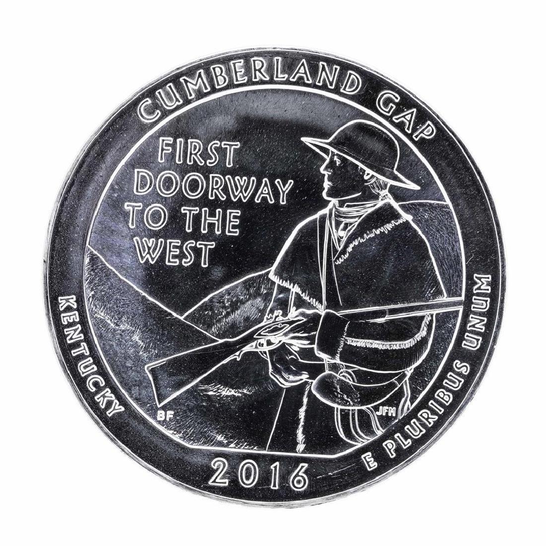 2016 5oz Silver ATB Cumberland Gap Kentucky Silver Coin