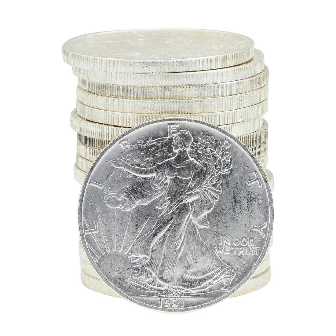 Roll of (20) 1995 $1 American Silver Eagle Coins