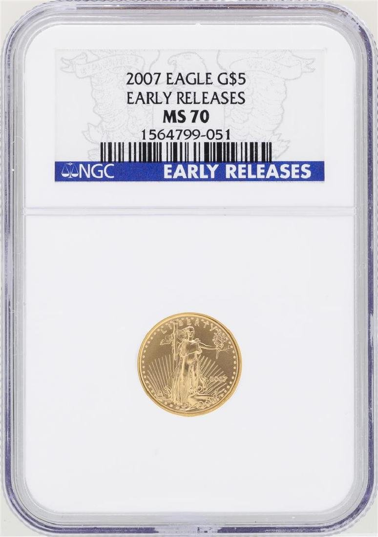 2007 $5 American Gold Eagle Coin NGC MS70 Early