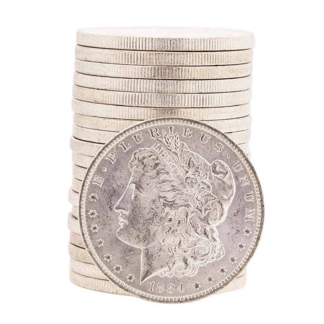 Roll of (20) 1884-O $1 Brilliant Uncirculated Morgan