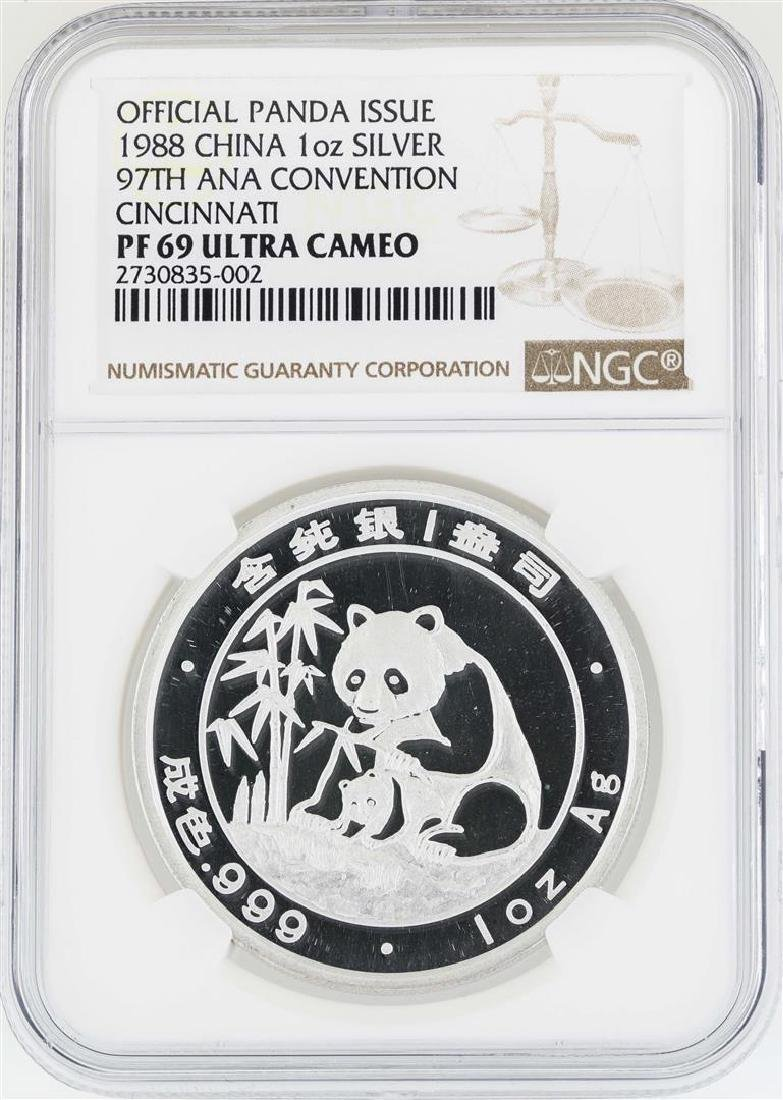 1988 China Panda 97th ANA Convention Cincinnati Silver