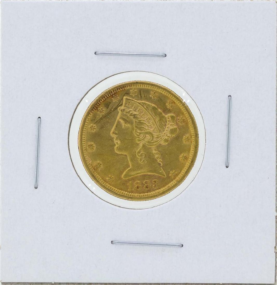 1883-S $5 Liberty Head Half Eagle Gold Coin