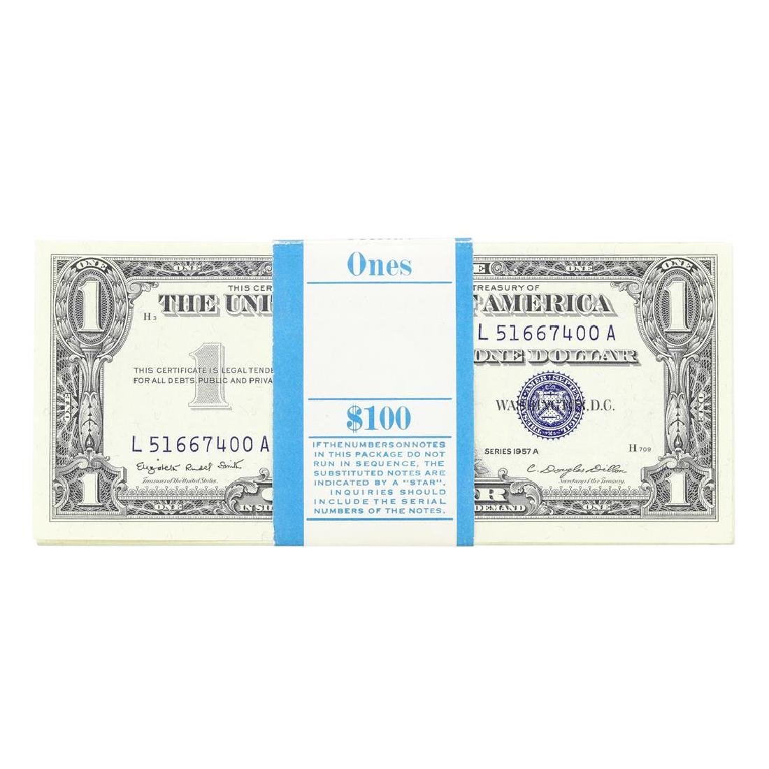 Pack of (100) Consecutive 1957A $1 Silver Certificate