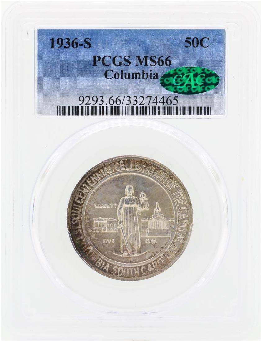 1936-S Columbia Commemorative Half Dollar Coin PCGS
