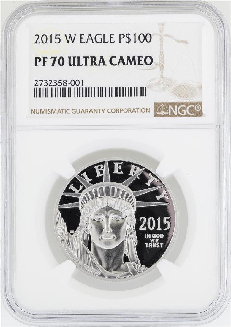 2015-W $100 Platinum American Eagle Coin NGC PF70 Ultra