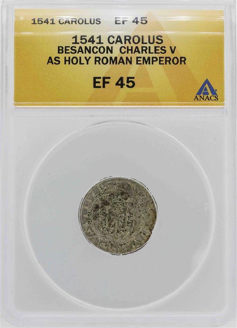 1541 Besancon Charles V Holy Roman Emperor Coin ANACS