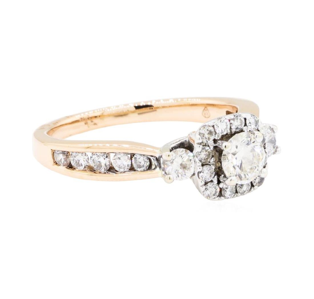 14KT Rose and White Gold 0.75 ctw Diamond Ring