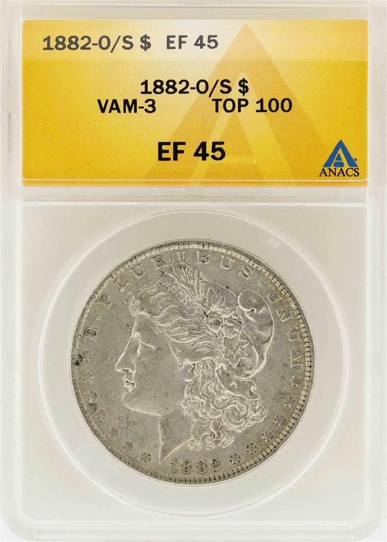 1882-O/S $1 Morgan Silver Dollar VAM-3 Top 100 ANACS
