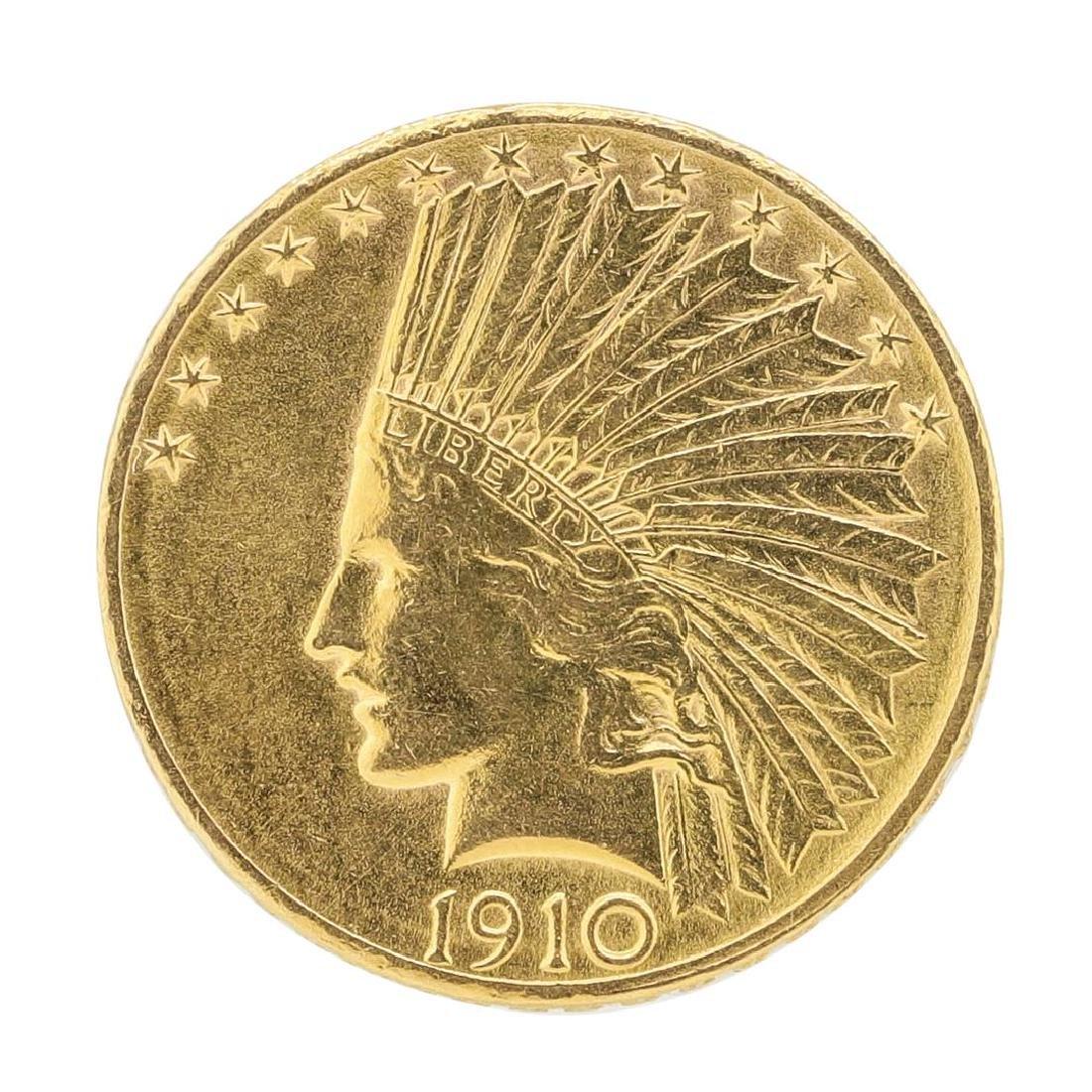1910-D $10 Indian Head Eagle Gold Coin
