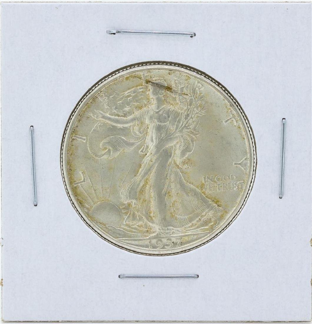 1937-D Walking Liberty Half Dollar Silver Coin