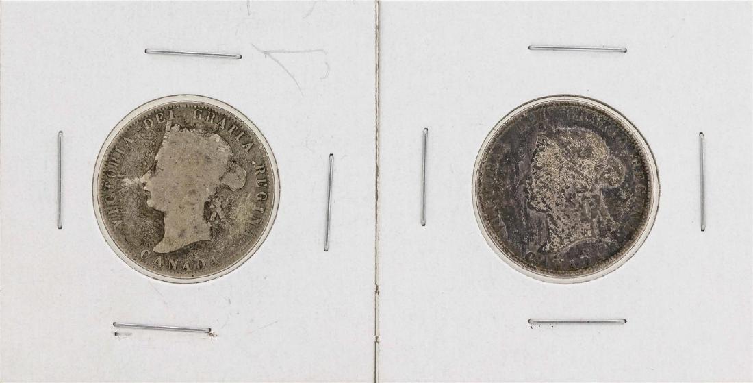 Lot of 1872-H & 1874-H Canada Quarter Coins
