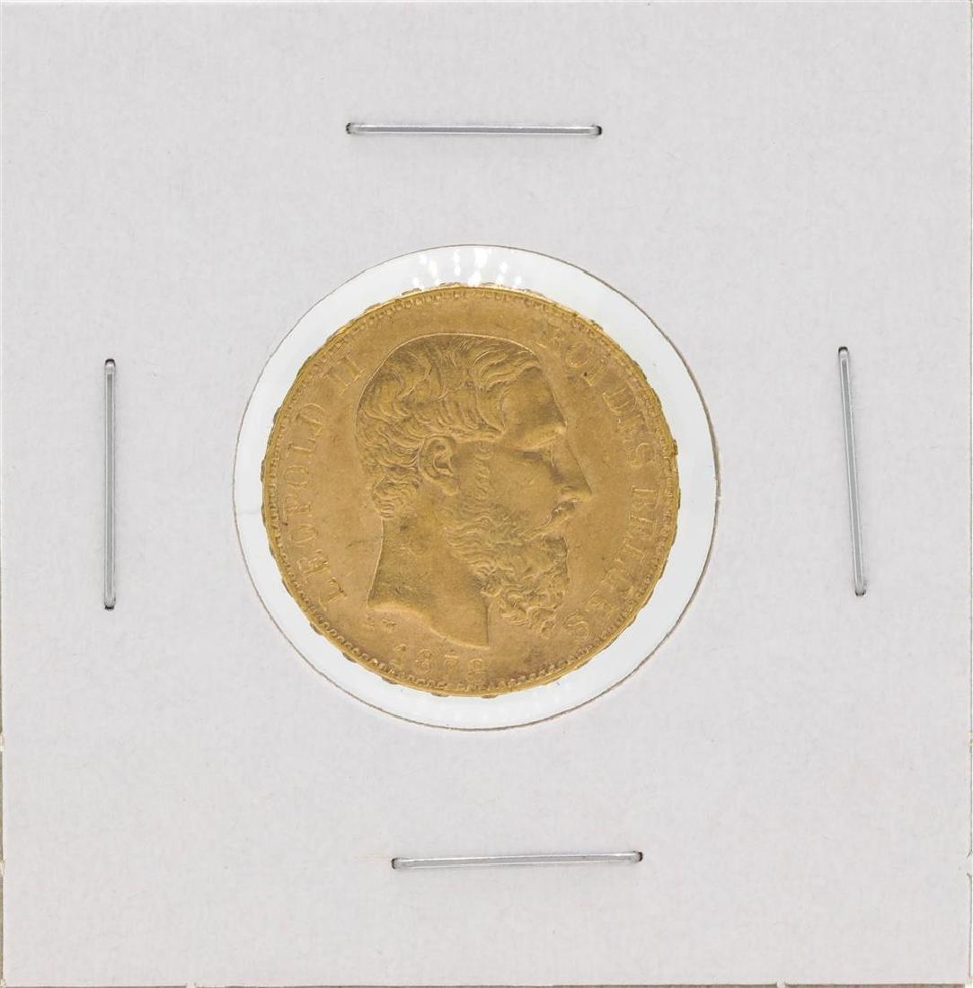 1878 Belgium 20 Francs Gold Coin