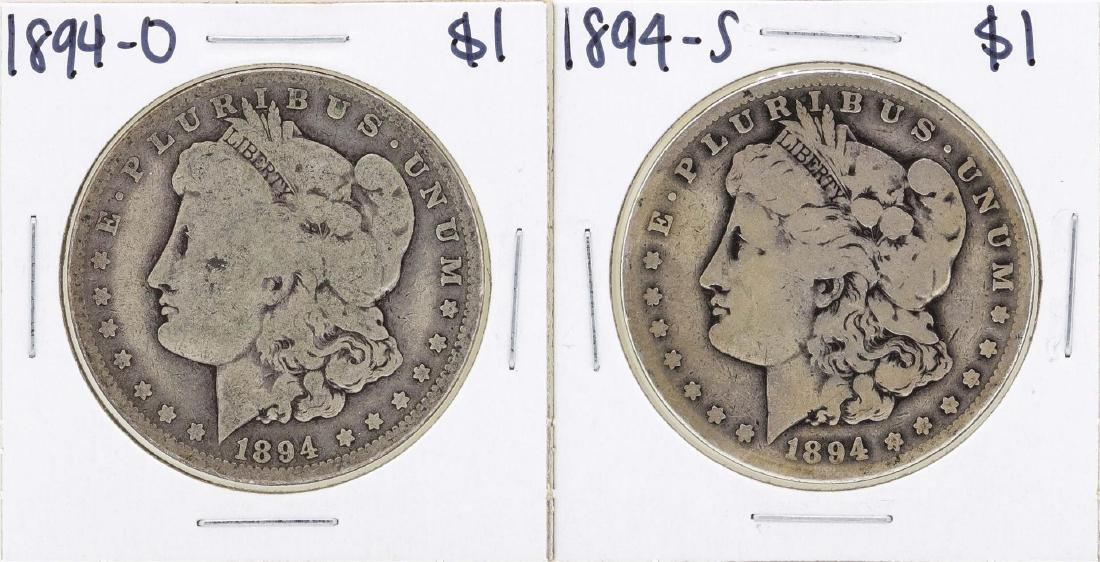 Lot of 1894-O & 1894-S $1 Morgan Silver Dollar Coins