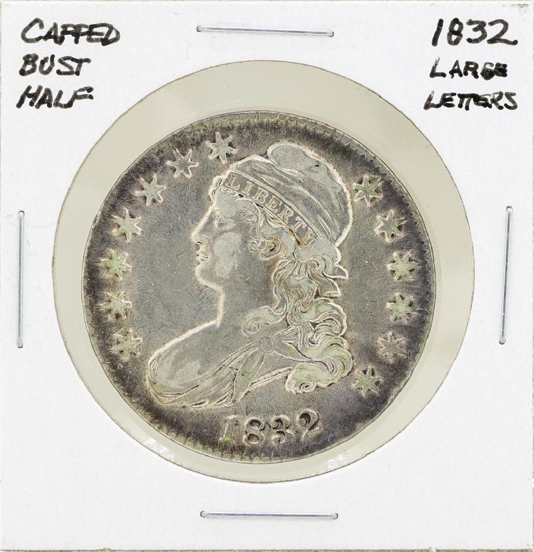 1832 Large Letters Capped Bust Half Dollar Coin