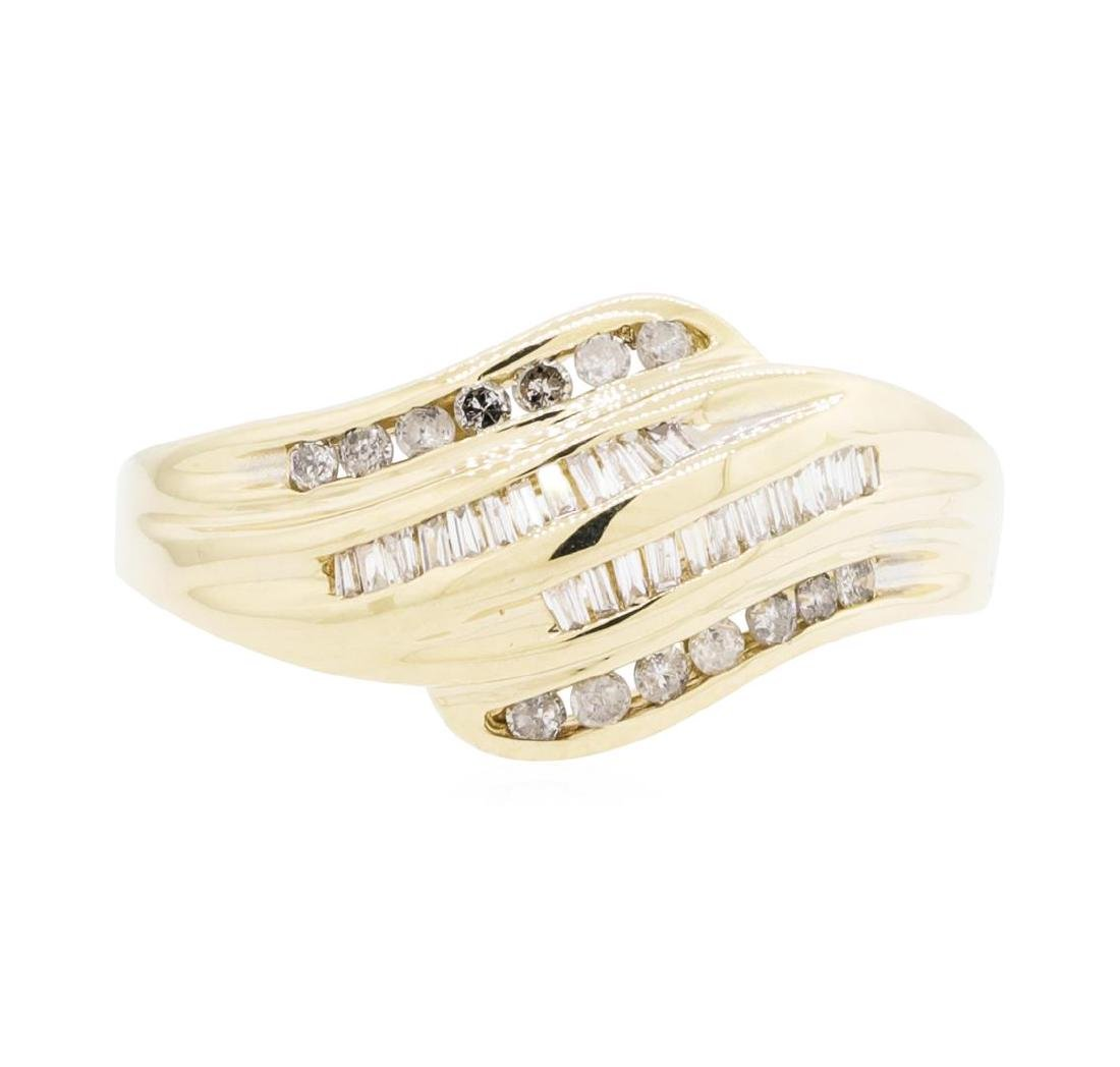 10KT Yellow Gold Lady's 0.50 ctw Diamond Ring