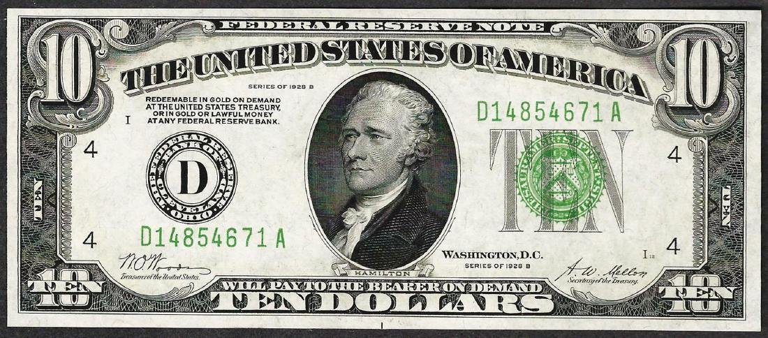 1928B $10 Federal Reserve Note