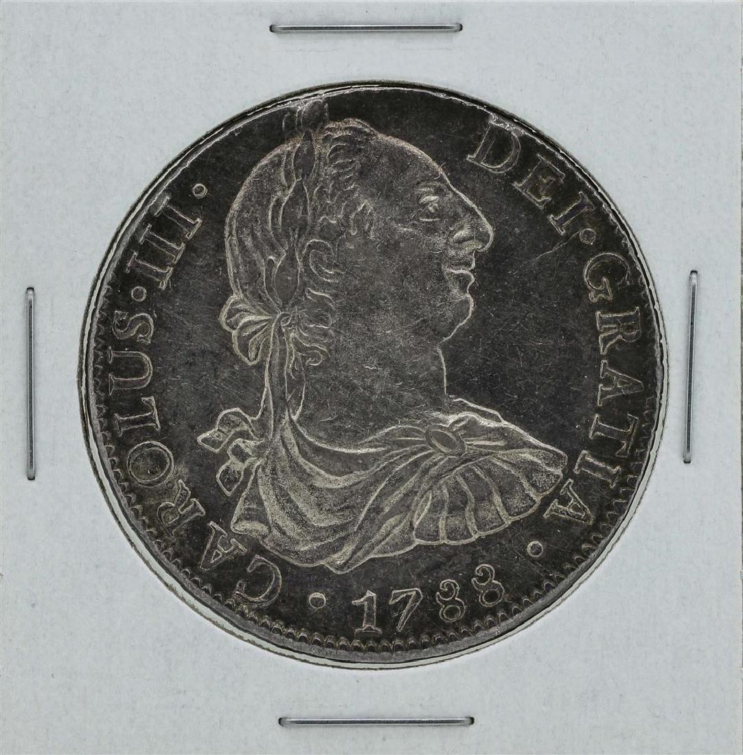 1788 Mexico 8 Reales Carlos III Silver Coin