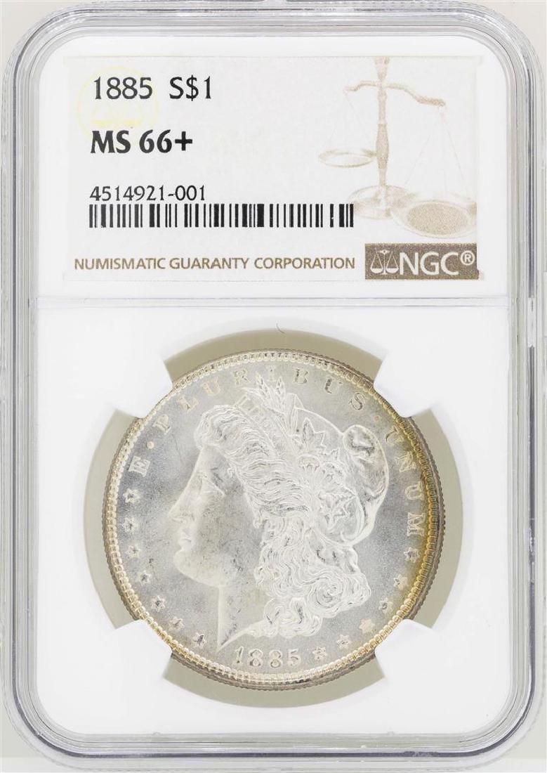 1885 $1 Morgan Silver Dollar Coin NGC MS66+
