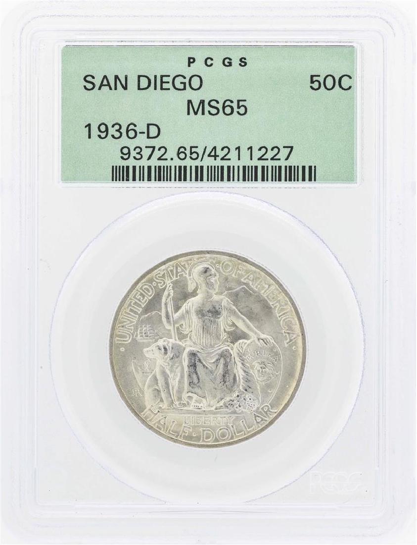 1936-D San Diego Commemorative Half Dollar Coin PCGS
