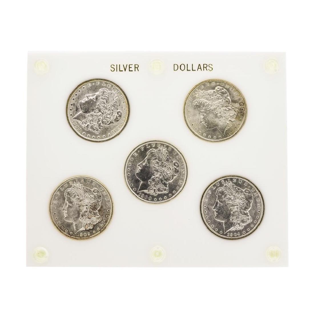 Set of (5) Brilliant Uncirculated $1 Morgan Silver
