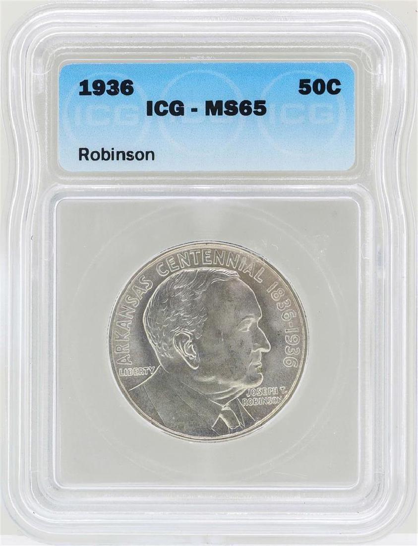 1936 Arkansas Centennial Robinson Commemorative Half