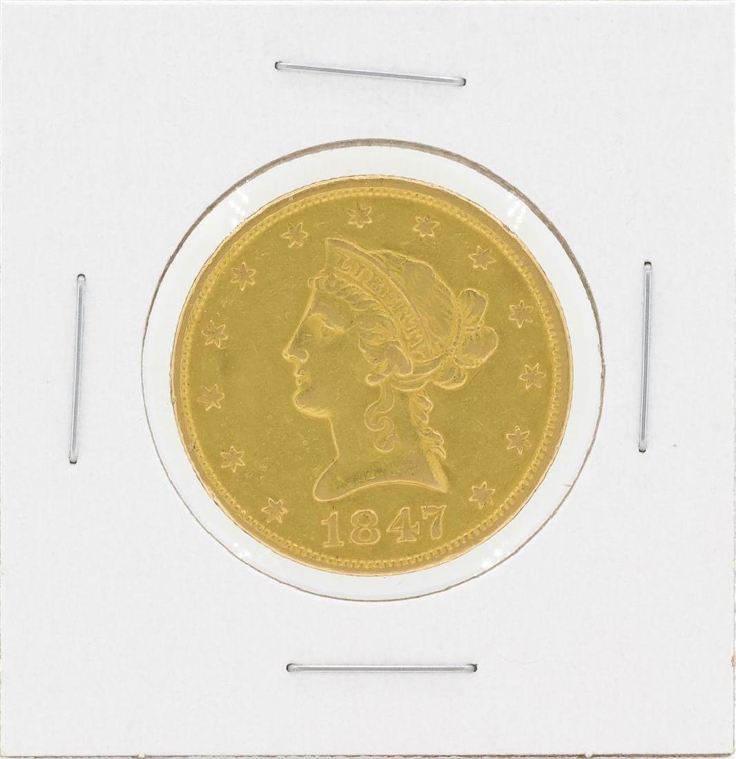 1847 No Motto $10 Liberty Head Eagle Gold Coin
