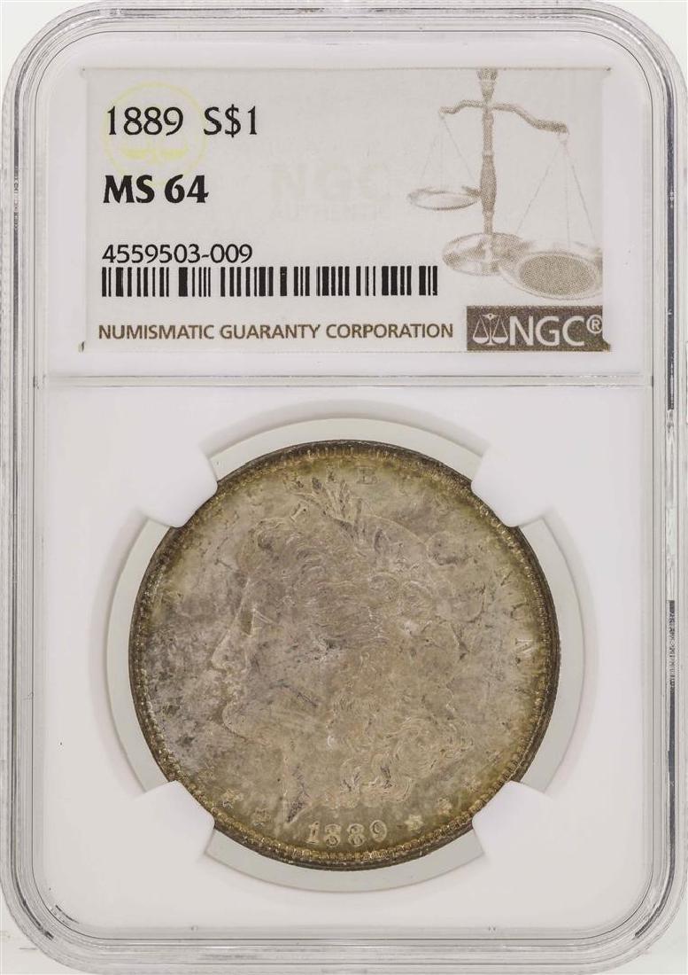 1889 $1 Morgan Silver Dollar Coin NGC MS64