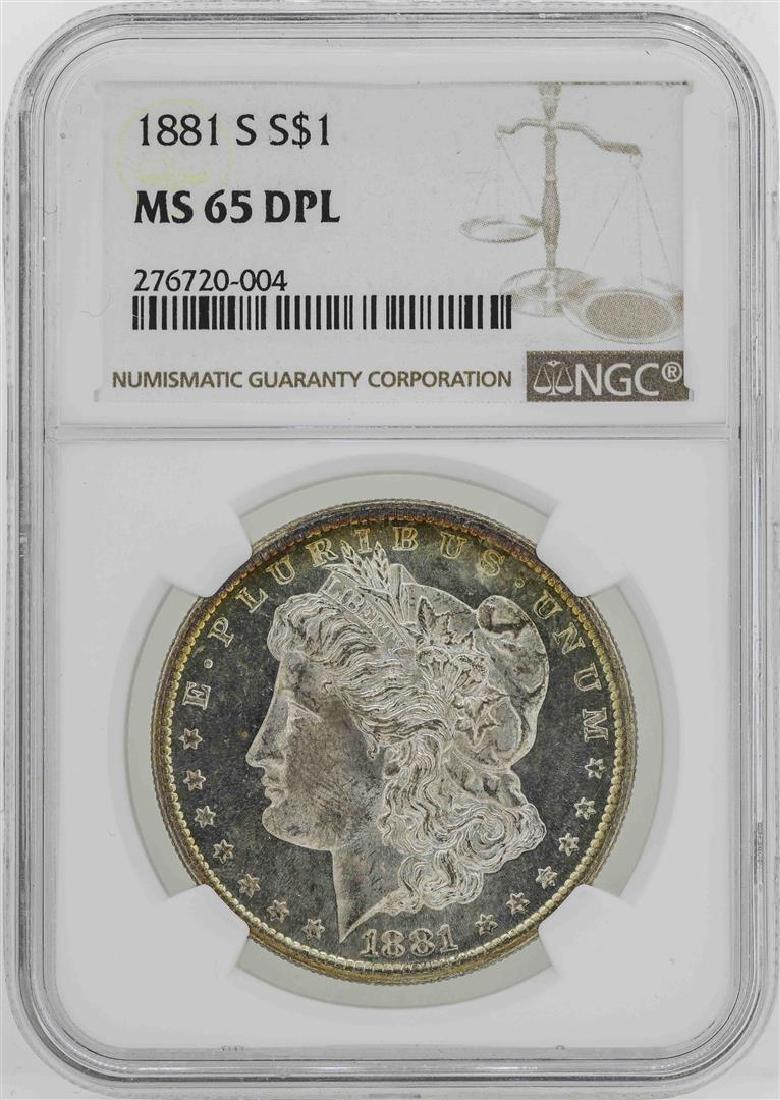 1881-S $1 Morgan Silver Dollar Coin NGC MS65DPL